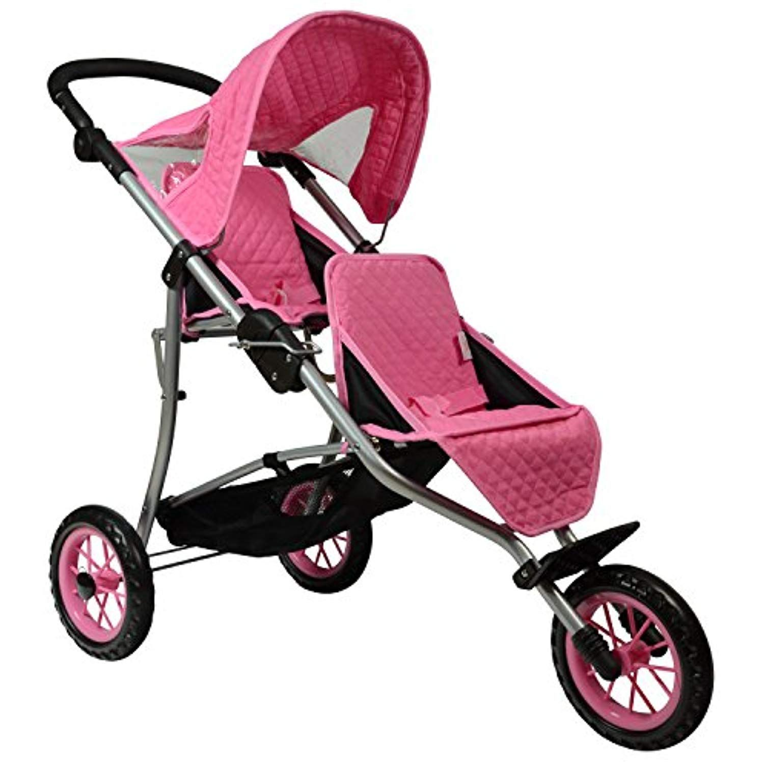 The New York Doll Collection Twin Jogging Stroller Fits For 18 Inch