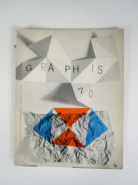 Graphis #70 Cover designed by Rudolph De Harak. 1957 by Herb Lubalin Study Center