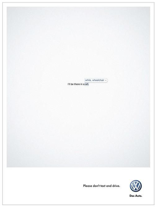 Volkswagen - Don't text and drive