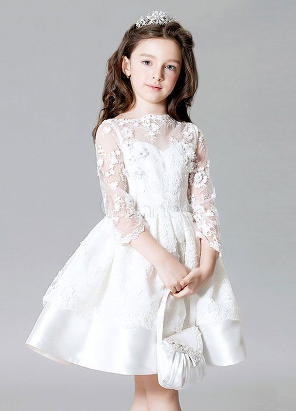 White satin dress knee length