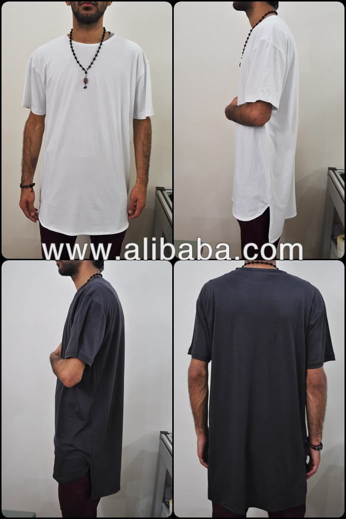 Extended Essential Short Sleeve Long Tee 90cm Kanye West Style Silky Long T Shirt 10 15 Kanye West Style Mens Street Style Plus Size T Shirts