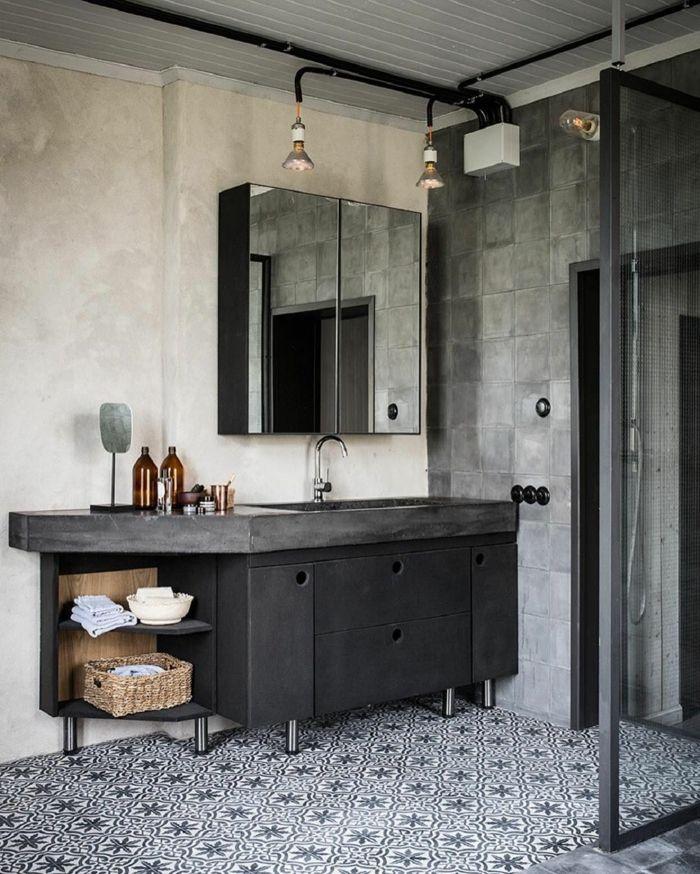 1001 id es d co de salle de bain r tro ultra l gantes - Meuble de salle de bain style retro ...