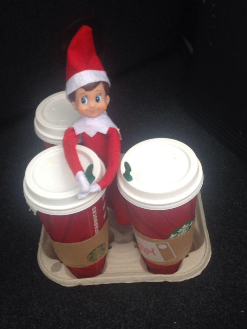 Do Elves Drink Starbucks That Crazy Elf On The Shelf