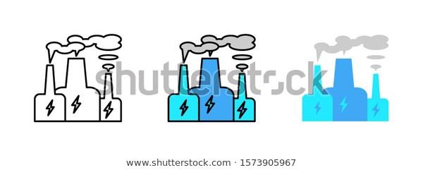 Power Plant Icon Isolated On White Stock Vector Royalty Free 1573905967 Plant Icon Power Plant Royalty Free
