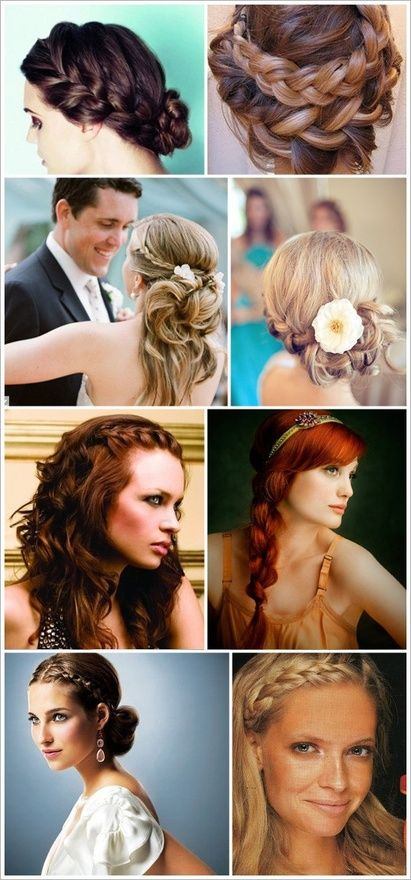 great hair styles for bride and perhaps, this bridesmaid :)