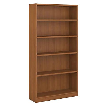 Bush Furniture Universal 5 Shelf Bookcase Royal Oak Standard