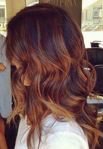 Couleur cheveux ombre caramel