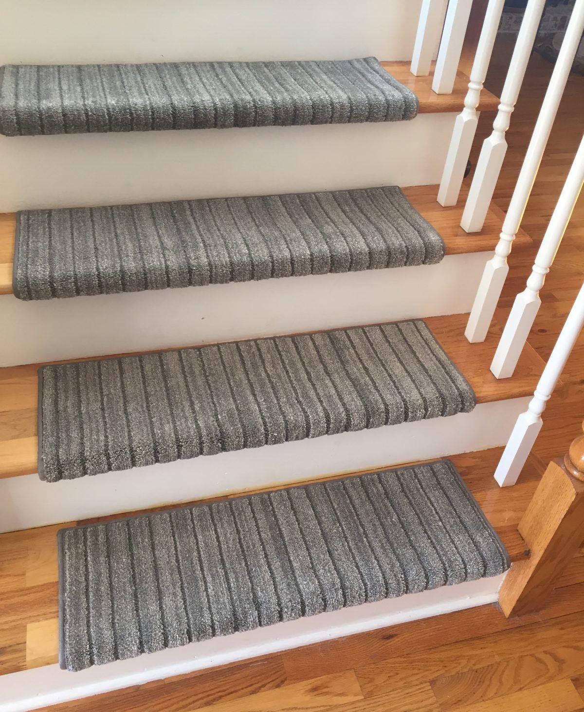 Best True Bullnose™ Carpet Stair Tread Mulberry Warm Granite 400 x 300
