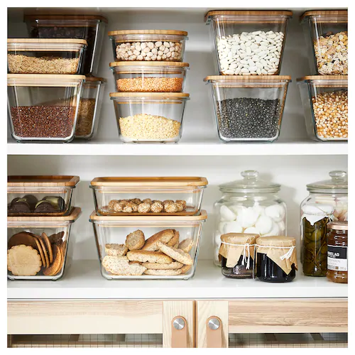 Ikea 365 Food Container Rectangular Glass Length 8 Width 6 Volume 61 Oz Get It Here Ikea Ikea 365 Food Containers Kitchen Organization Pantry