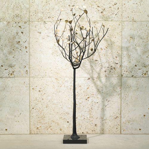 Global Views Metal Sculpture: Global Views Tree Sculpture