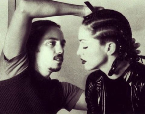 OrlandoPita does Madonna's hair for her Human Nature video in 1995