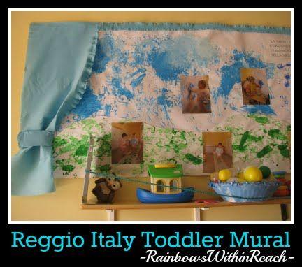 Reggio Emilia Italy Toddler Painted Open Ended Media Exploration