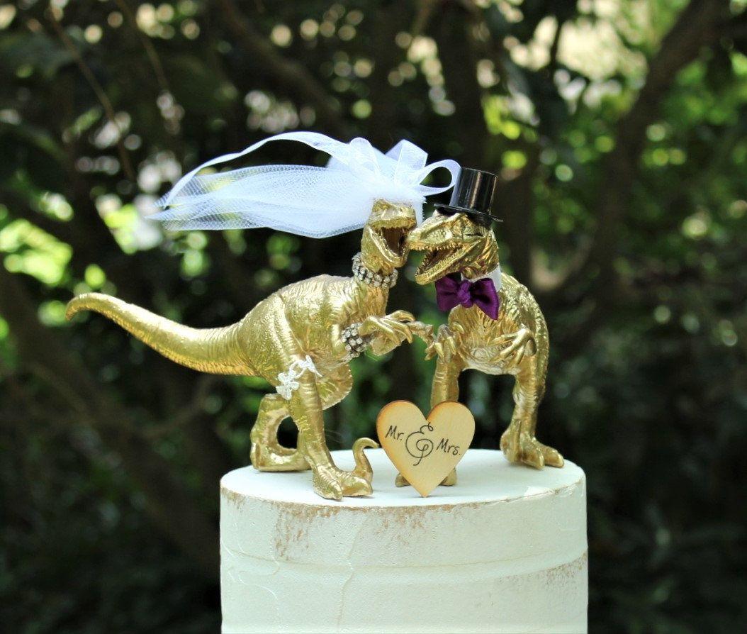 Dinosaur Wedding Cake Topper Velociraptor Cake Topper Etsy Wedding Cake Toppers Unique Dinosaur Wedding Cake Toppers Dinosaur Wedding