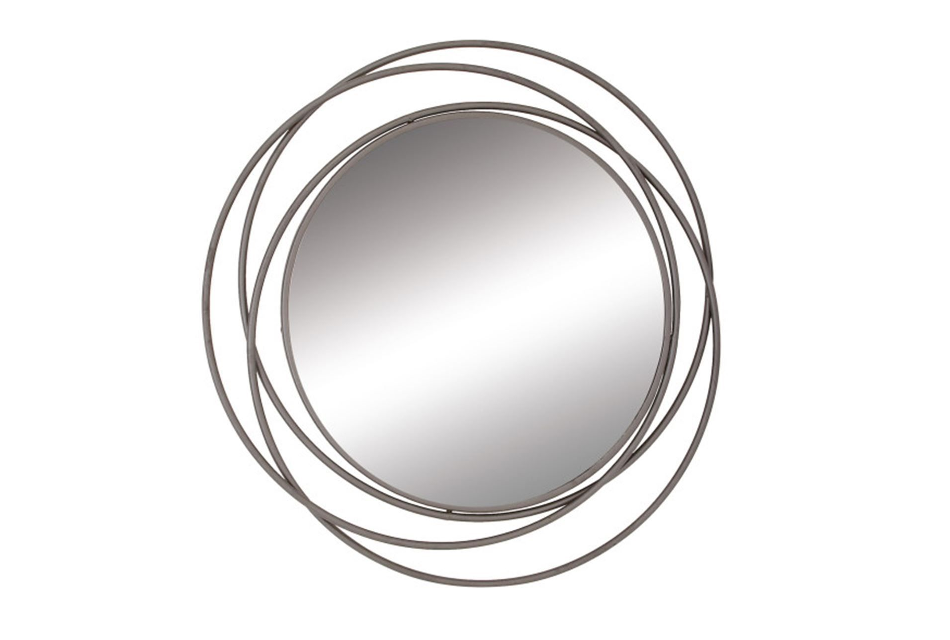 48 Inch 3 Ring Metal Wall Mirror Signature Mirror Wall Modern