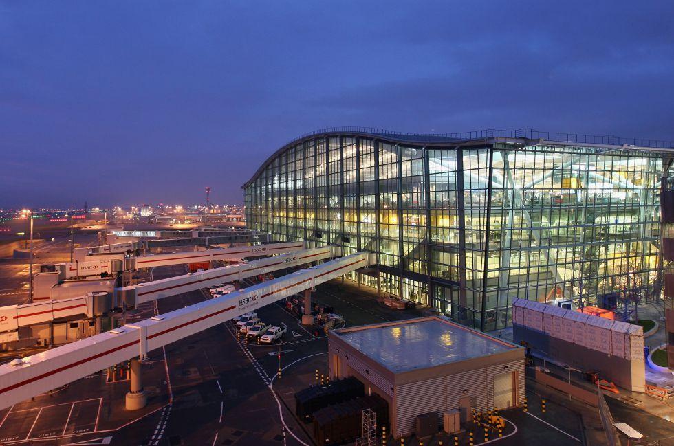 La terminal 5 del aeropuerto de Heathrow, en Londres, obra del arquitecto Richard Rogers