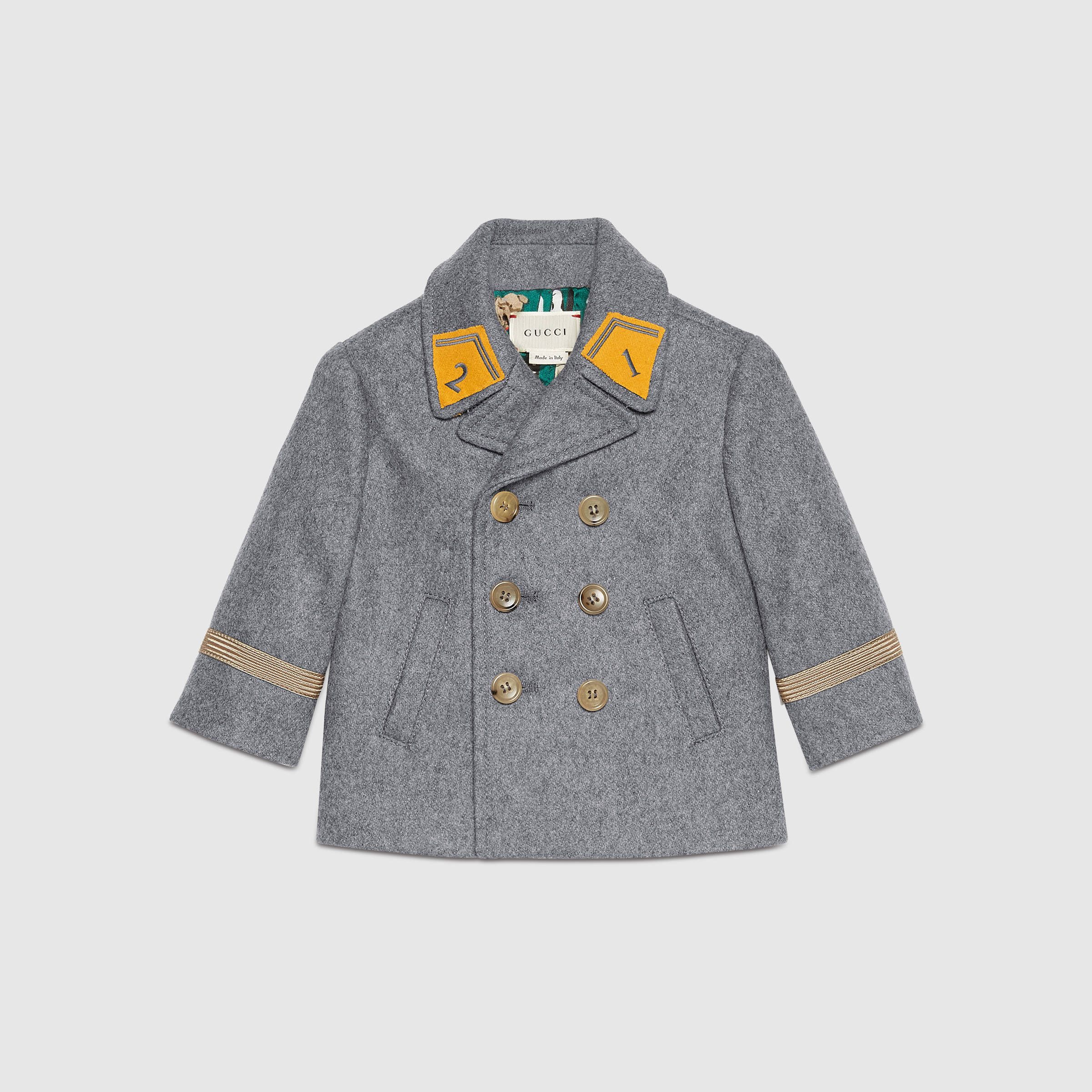 9d785f798b2a Gucci Children - Baby wool cashmere pea coat