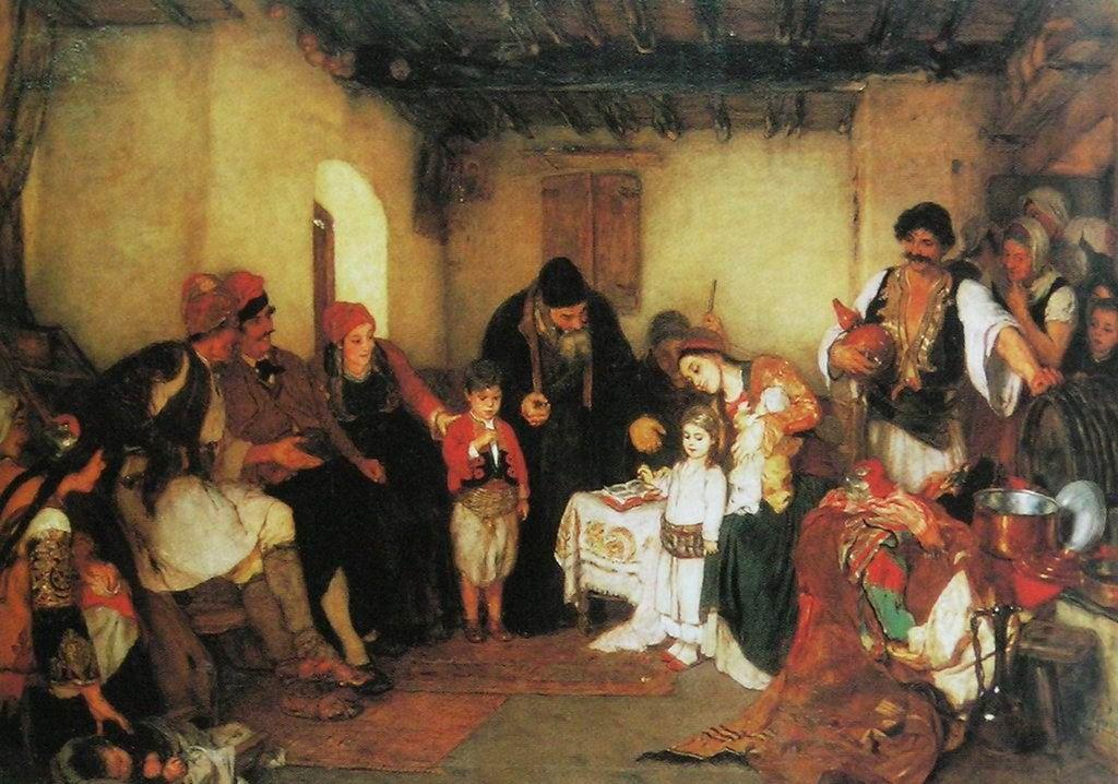 Νικόλαος Γύζης Παιδικοί αρραβώνες (1877)