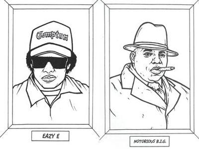 """Gangsta Rap Coloring Book: """"Take a look... It\'s in a book? Everyone ..."""