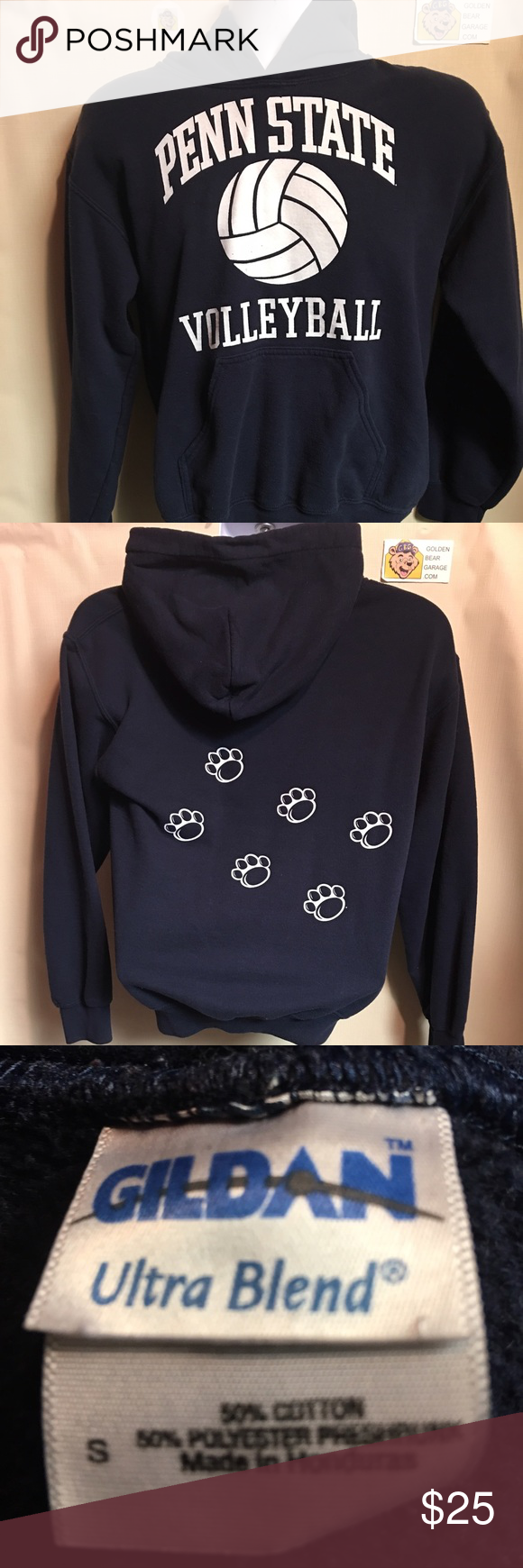 Vintage Penn State Women S Small Volleyball Hoodie Volleyball Hoodie Hoodies Women