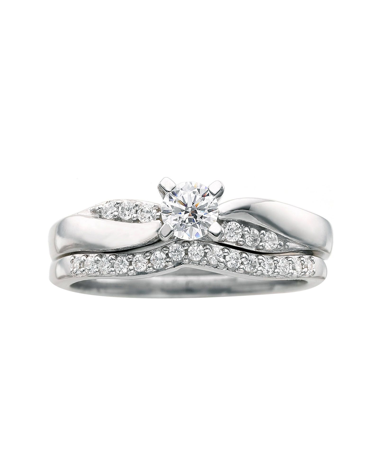 I Said Yes™ 3 8 CT T W Diamond Bridal Ring Set by JCPenney on