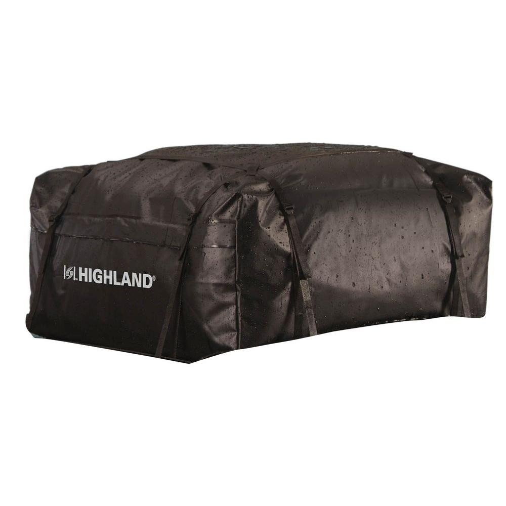 Highland 15 Cu Ft Waterproof Rooftop Cargo Bag With Storage Sack Black Roof Paint Rooftop Bags