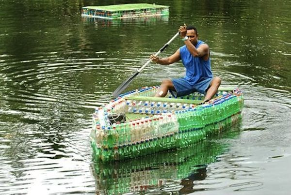 Love the recycled bottle boat! In honor of Earth Day, we share with you our top seven tidbits on reduce, reuse, and recycle.