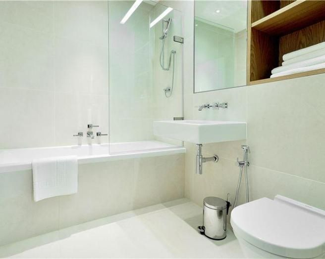 Bathroom Ideas Rightmove photo of contemporary white bathroom with heated towel rail shower