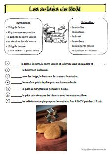 Recette les sabl s de no l cp ce1 - Recette de cuisine pour l hiver ...
