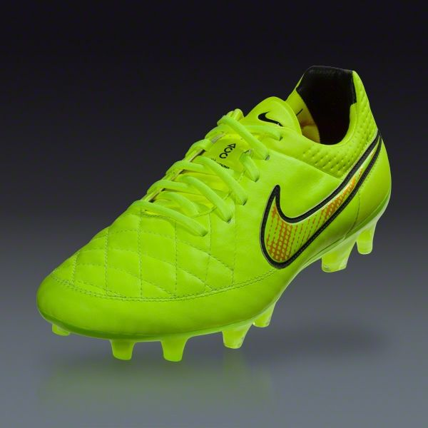 on sale 0a2f9 fba35 Nike Tiempo Legend V FG - (Volt Metallic Gold Coin - Black) Firm Ground Soccer  Shoes