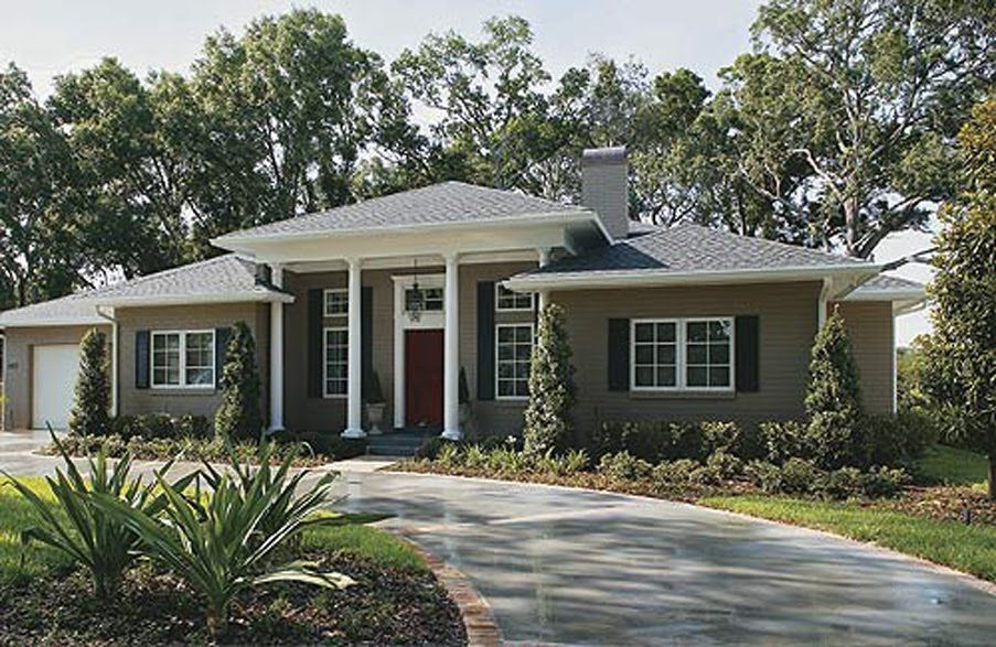 Ranch style house remodel before after ranch style house house remodeling and ranch style - Exterior home remodel ...
