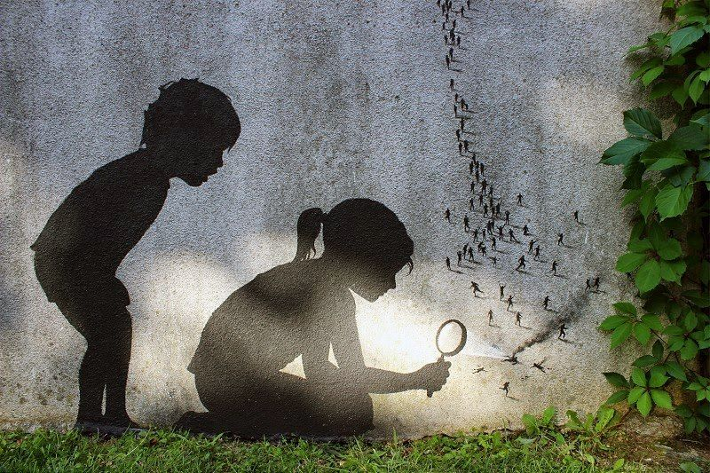 by Pejac. In Paris, France.