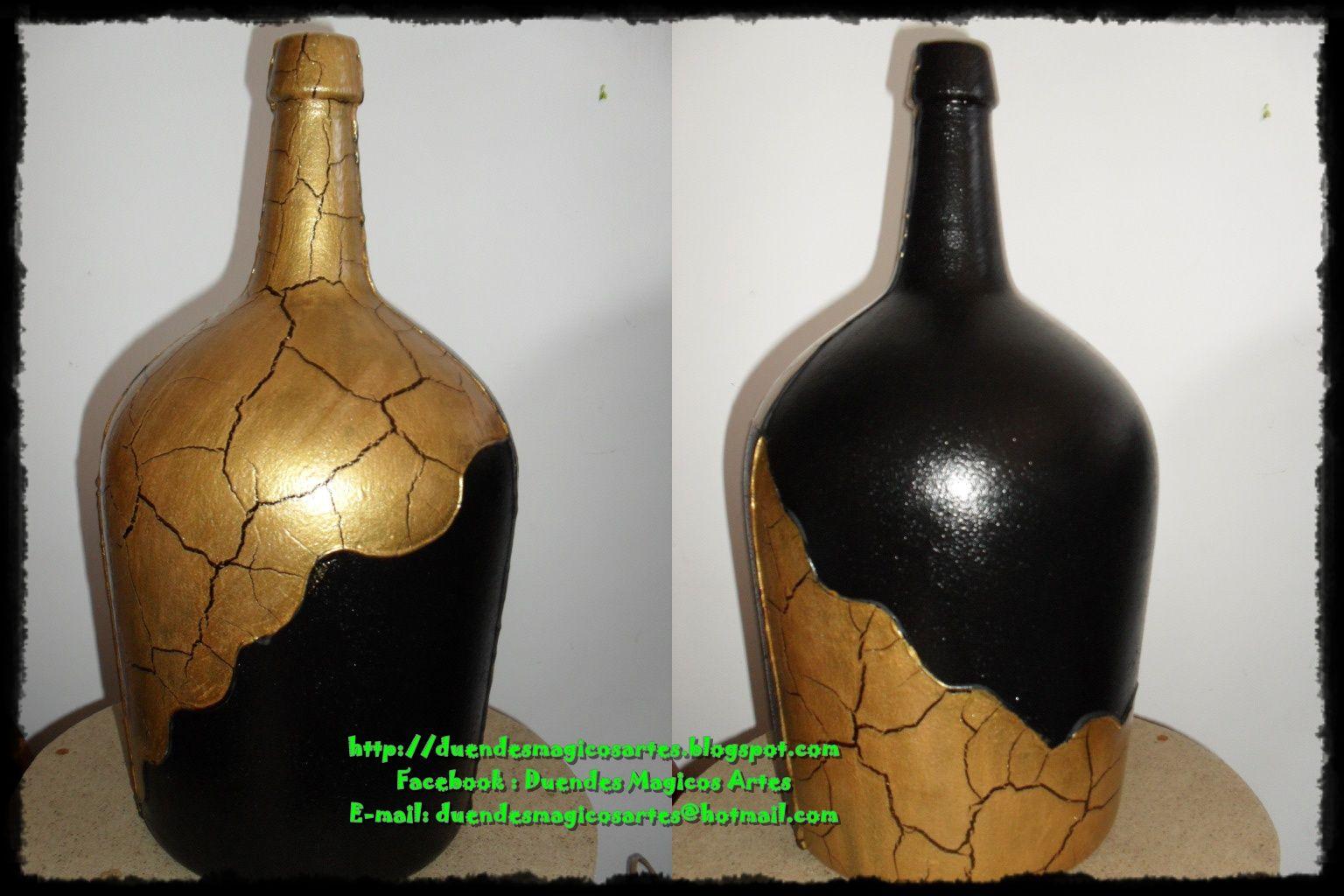 Pin de elba ferrer gomez en botellas pinterest for Jarrones de vidrio decorados