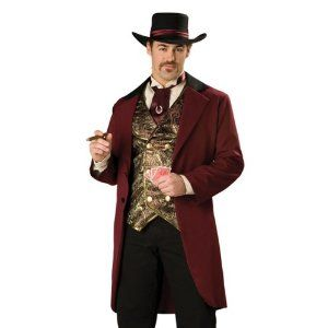 riverboat gambler western western riverboat gambler mens cowboy halloween costume amazonco - Amazon Halloween Costumes Men