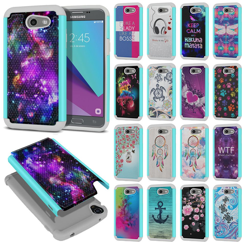Details About For Samsung Galaxy J3 J327 2017 Emerge Rugged Hybrid Silicone Rubber Case Cover Phone Cases Samsung Galaxy Samsung Phone Covers Cool Iphone Cases