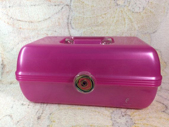 Vintage Caboodle 2622 Make Up Organizer Pink By Theoddowl On Etsy