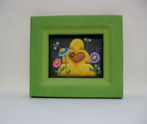 Summer Time Beehive Bees Flowers Framed in by barbsheartstrokes, $17.00