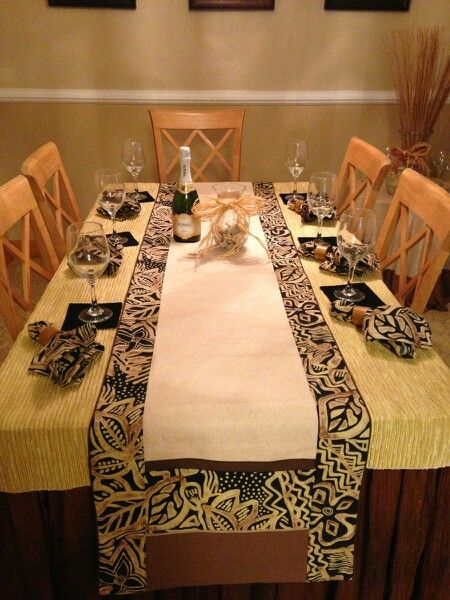 African Print Www Decloth Com Table Runner African