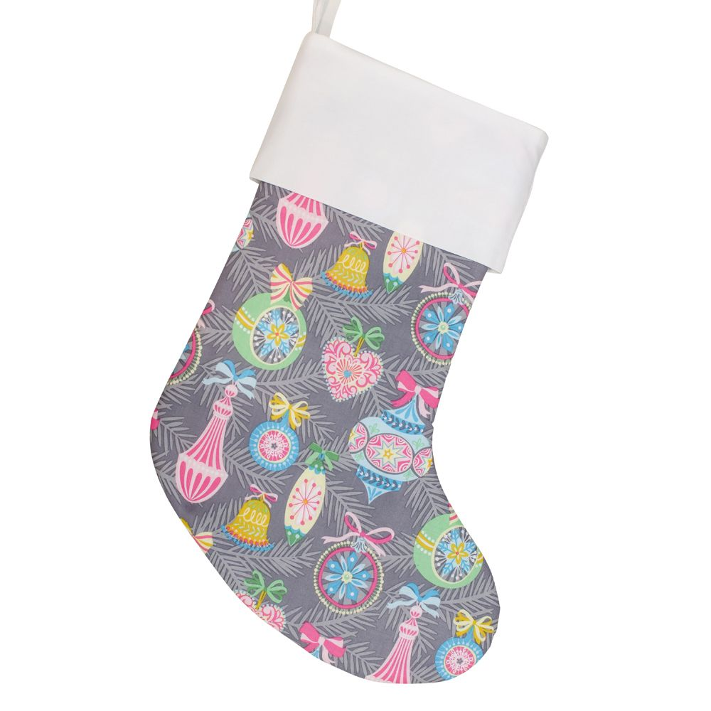 Hot Pink Christmas Stocking Personalized 18 Cs0004 By Forshee Designs