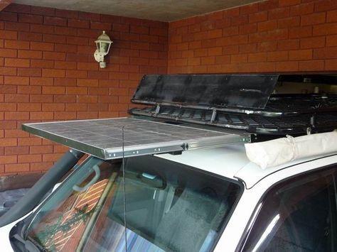 Mounting Solar Panels With Drawer Sliders On Roofracks Solar Panels Overland Vehicles Solar