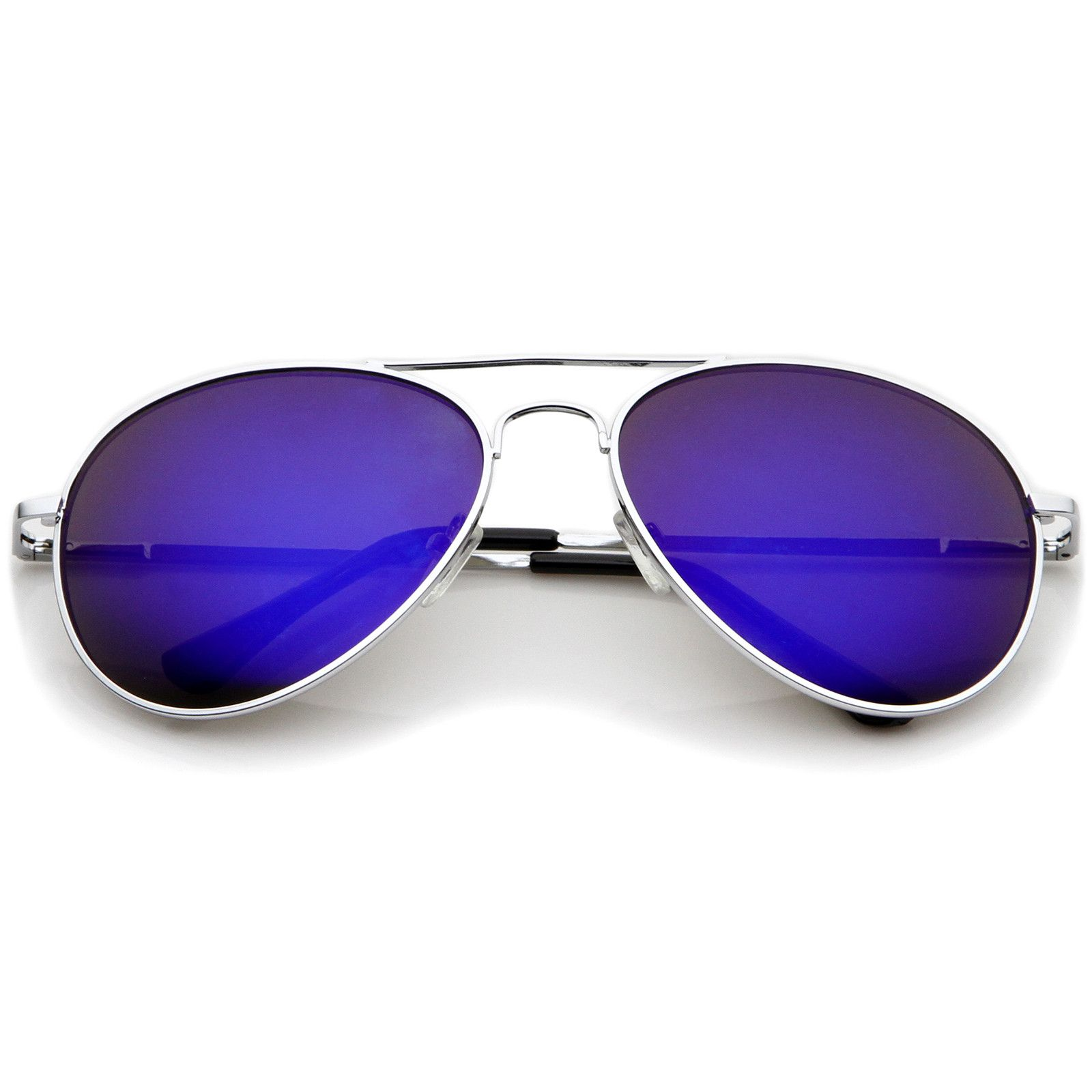 5ea6388778b Classic Metal Frame Spring Hinges Color Mirror Lens Aviator Sunglasses 56mm   frame  bold  sunglasses  oversized  sunglass  summer  womens  purple ...