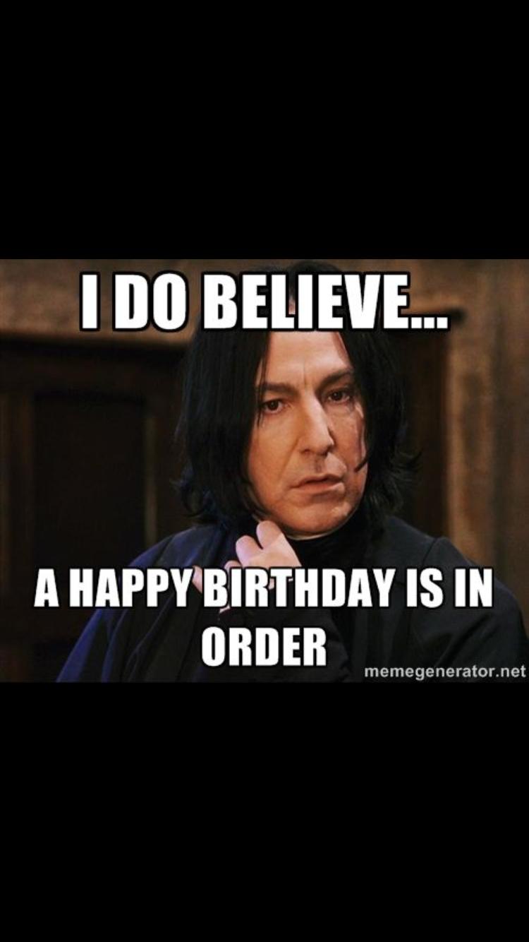 Snape Harry Potter Memes Severus Birthday Facebook