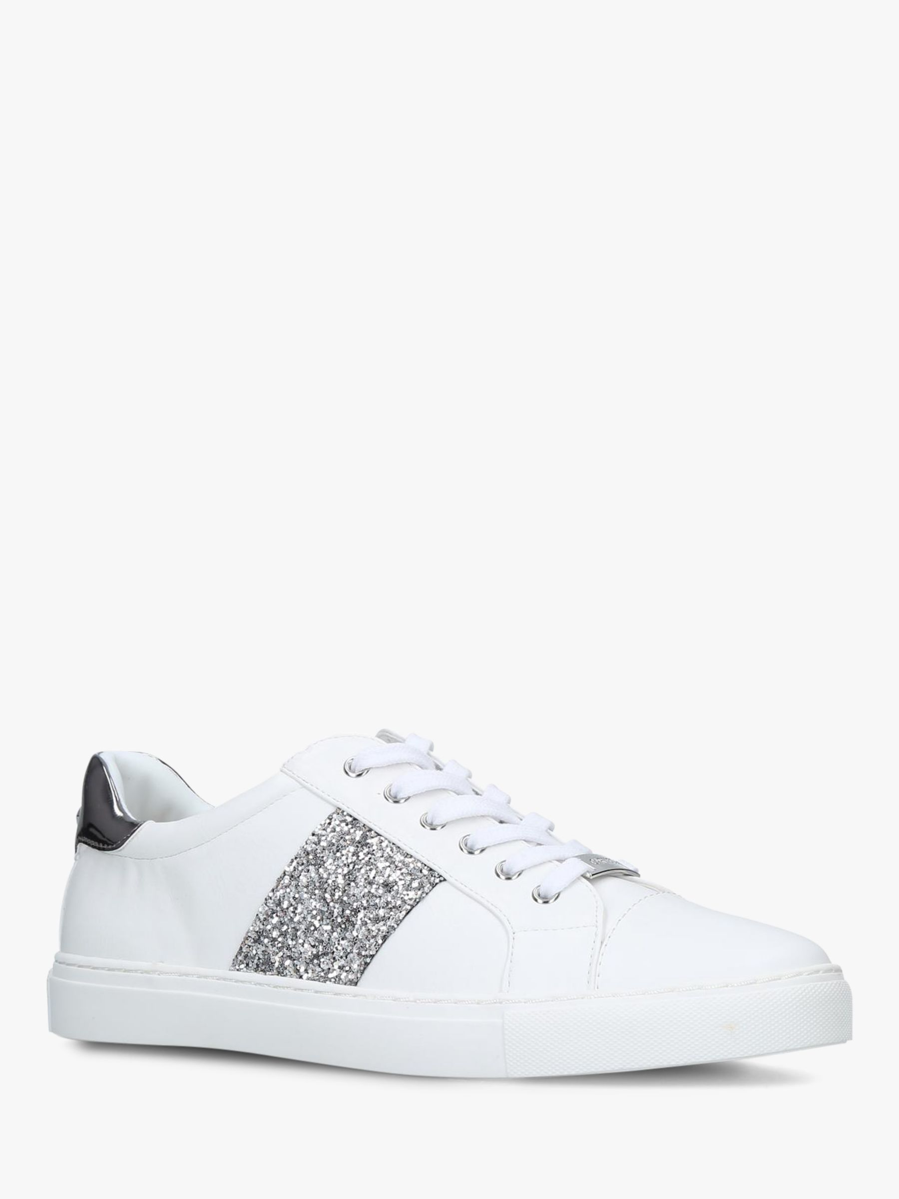 Carvela Jumping Lace Up Trainers, Navy