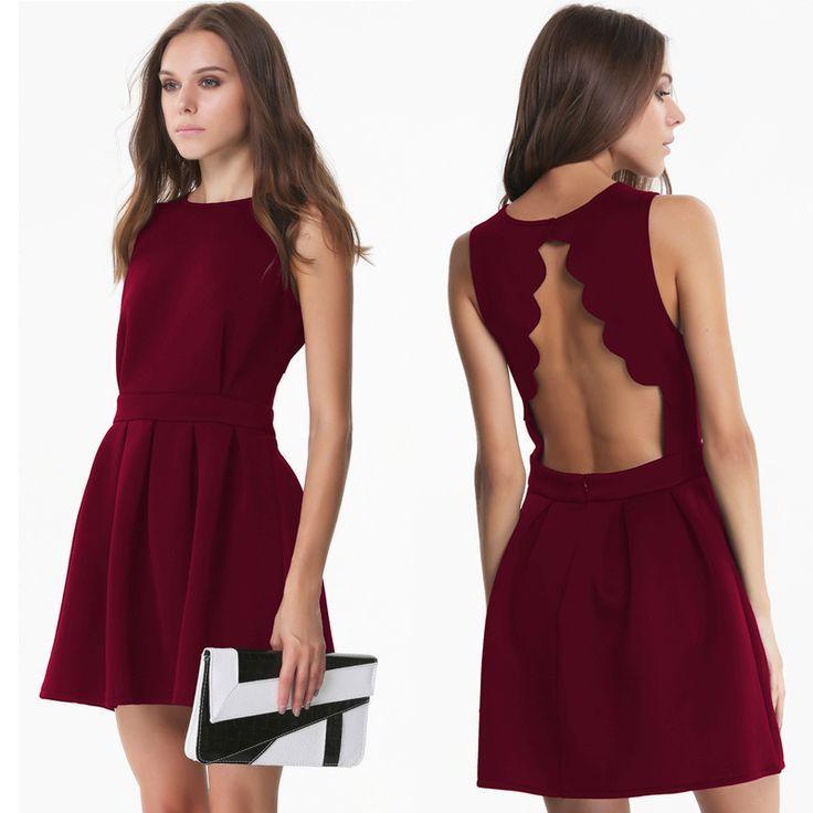 Resultado de imagen para vestidos negro y rojo juvenil