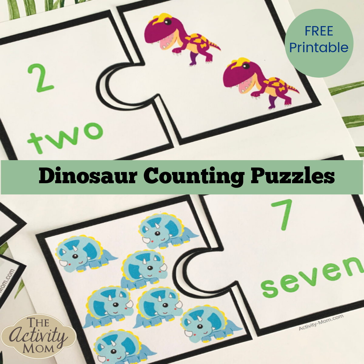 Dinosaur Counting Puzzles