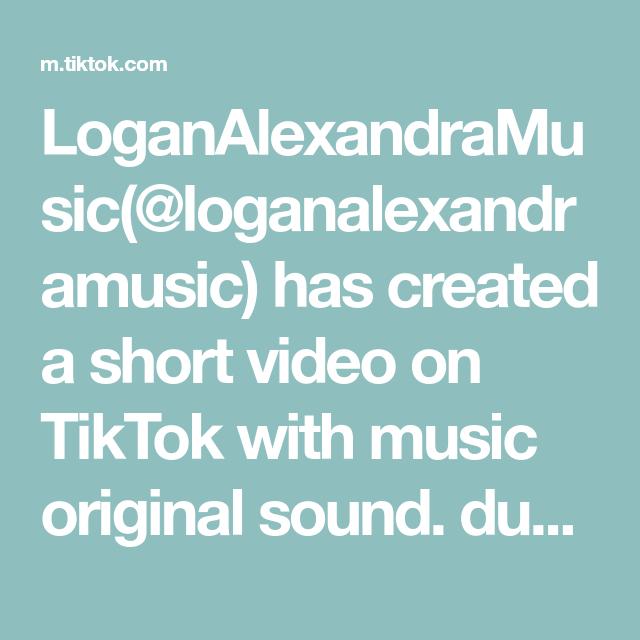 Loganalexandramusic Loganalexandramusic Has Created A Short Video On Tiktok With Music Original Sound Duet This And Sing Al In 2021 Just Pretend Songs The Originals