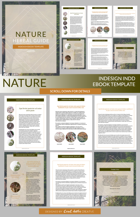 Nature InDesign Ebook Template | Template, Adobe indesign and ...