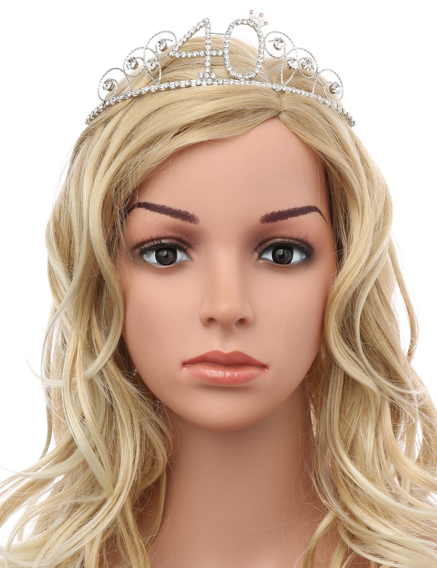 Babeyond crystal tiara birthday crown princess crown hair