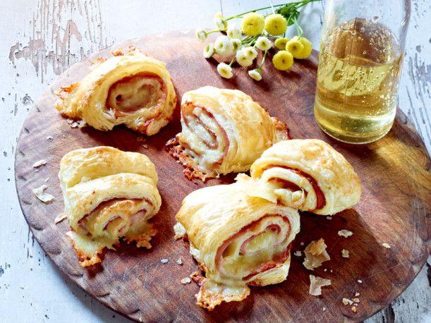 Schnelle Schinken-Käse-Röllchen Rezept Snacks, Brunch party and Food