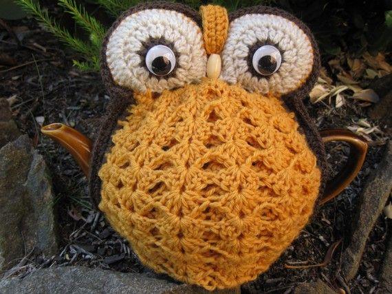 Owl Tea Cosy crocheted tea cosy - custom and handmade for you ...