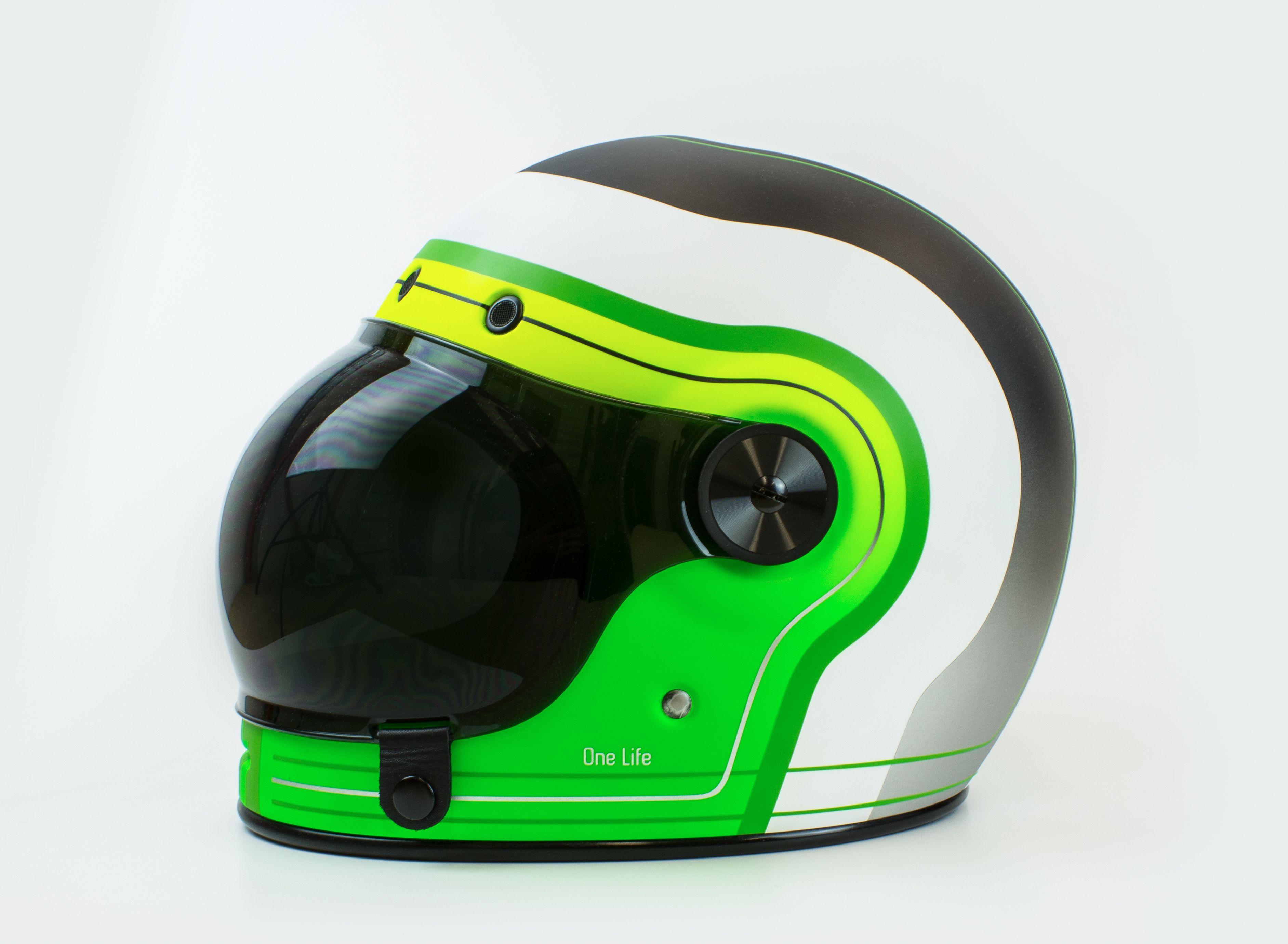 Helmade Bell Bullitt 101 Vintage Integral Helmet For Glemseck101 In Germany Get Yourself An Own Custom Painted Helm Helmet Design Helmet Paint Helmet